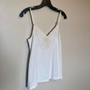 American Eagle • White Beige Lace Top